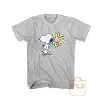 Peanuts Snoopy Pink Daisy Flower T Shirt