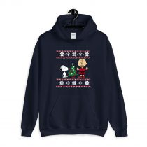 Peanuts Snoopy and Charlie Christmas Ugly Hoodie