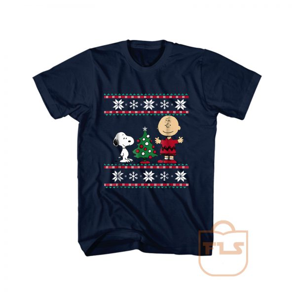 Peanuts Snoopy and Charlie Christmas Ugly T Shirt