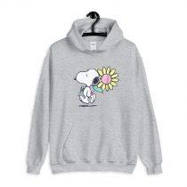 Peanuts Snoopy pink daisy flower Hoodie