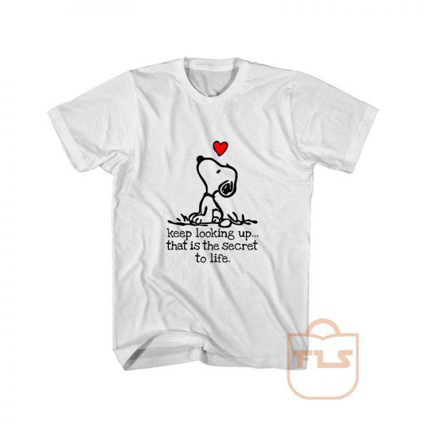 Snoopy Keep Looking Heart T Shirt