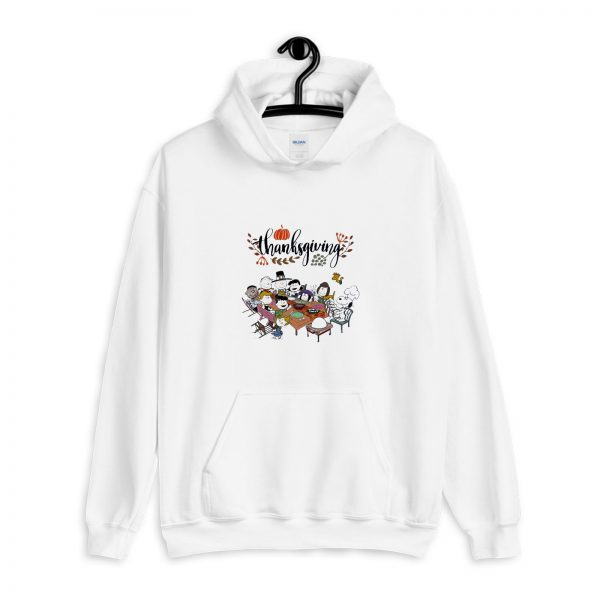 Snoopy and Peanuts with friends Thanksgiving Hoodie