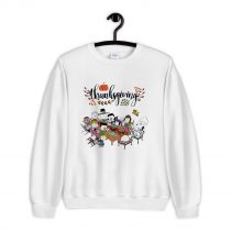 Snoopy and Peanuts with friends Thanksgiving Sweatshirt