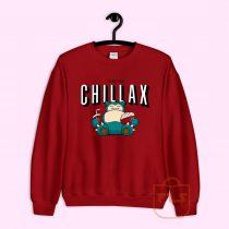 I'd Rather Chillax Snorlax Pokemon Sweatshirt