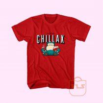 I'd Rather Chillax Snorlax Pokemon T Shirt