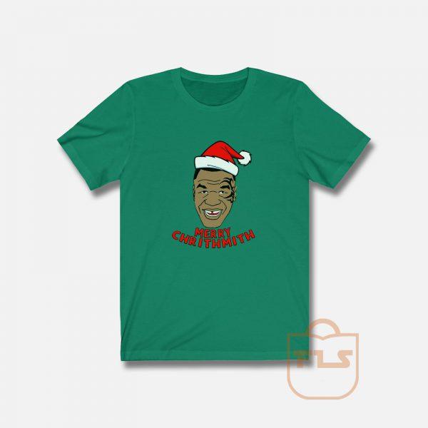 Mike Tyson Fleece Merry Chrithmith T Shirt
