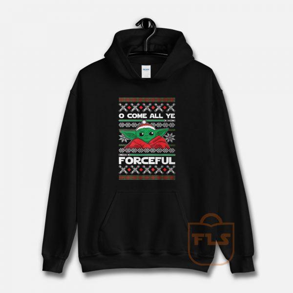 O Come All Ye Forceful Yoda Christmas Hoodie