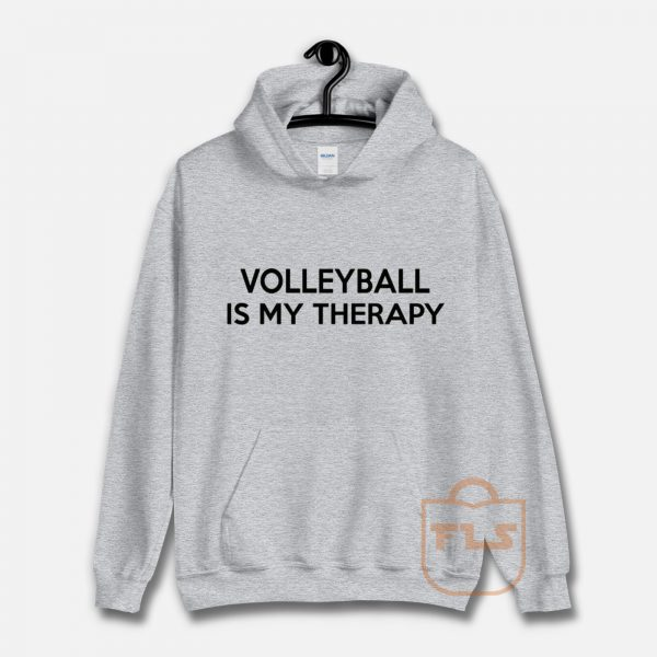 Volleyball Is My Therapy Hoodie