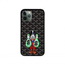 Donald Duck Money Black Goyard iPhone Case 11 X 8 7 6