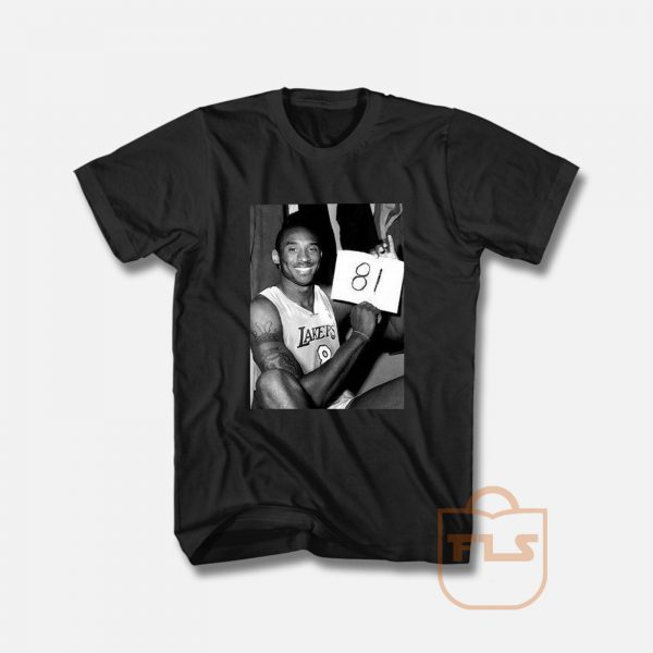 Kobe Bryant 81 Point Game Memorial T Shirt