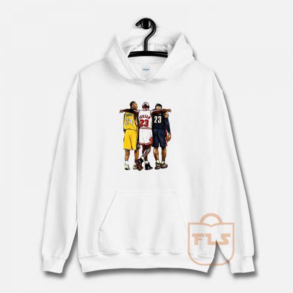 Kobe Bryant x Michael Jordan x Lebron James Hoodie