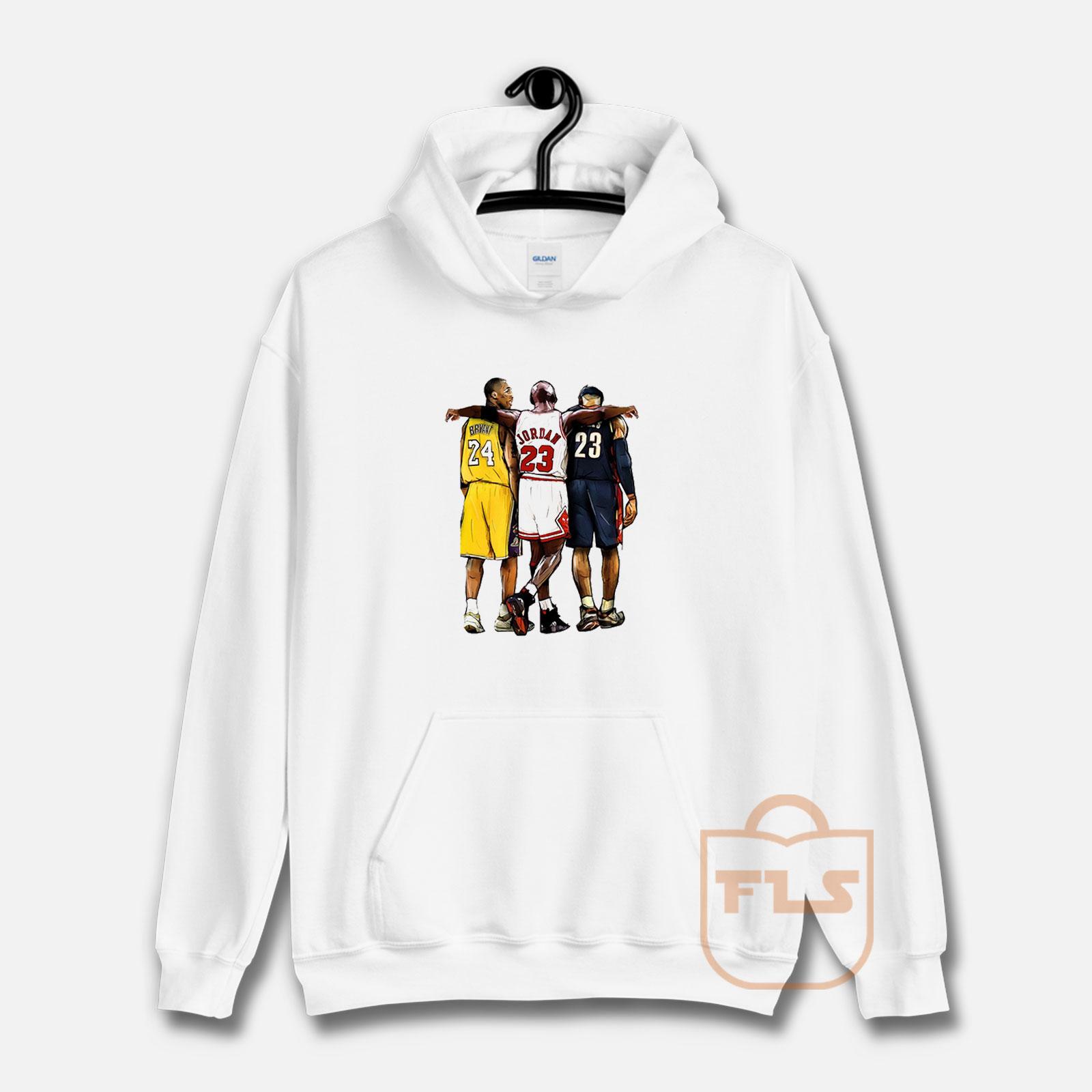 Raramente heroína solamente  Kobe Bryant x Michael Jordan x Lebron James Hoodie | Ferolos