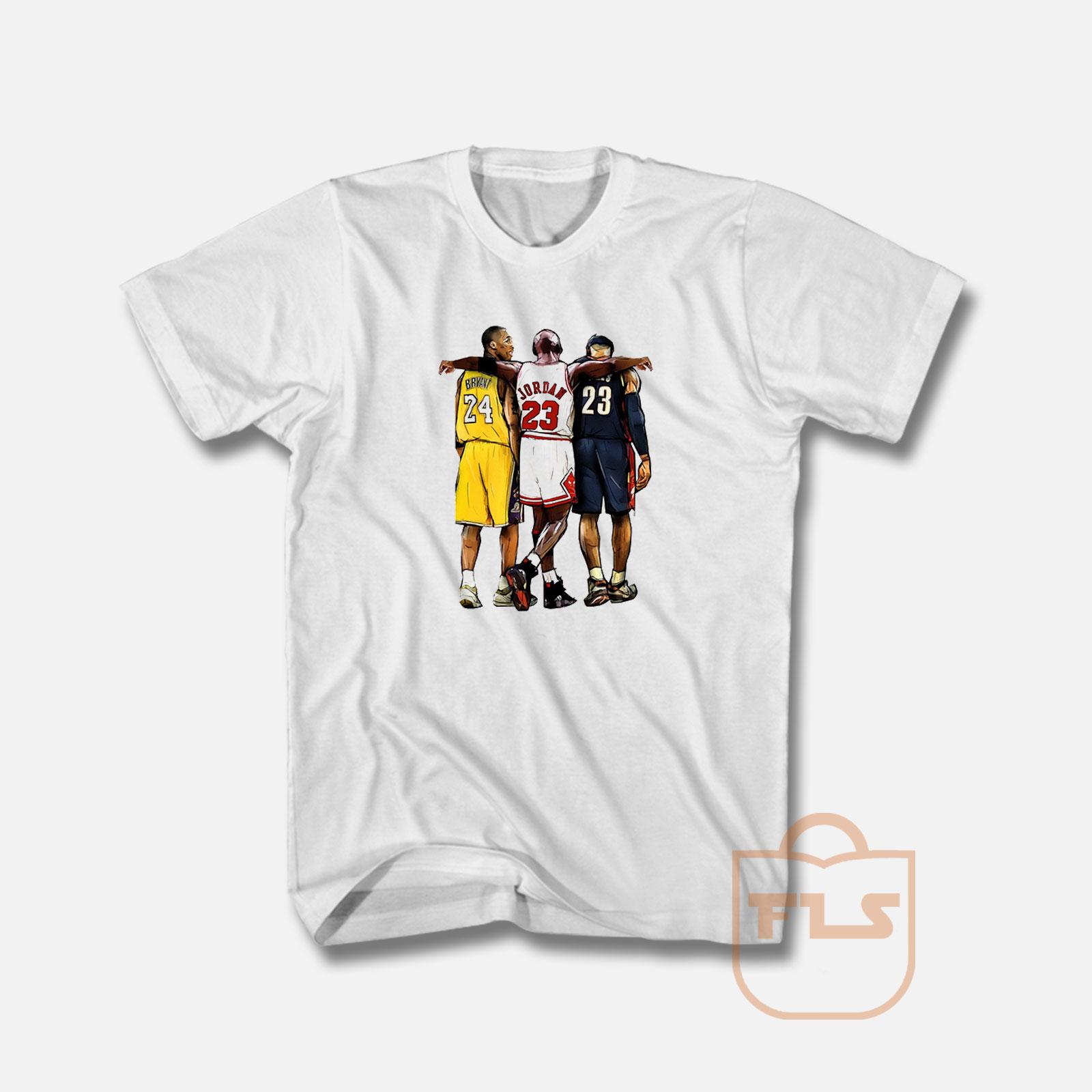 Lebron T Shirt Kobe Bryant x Michael Jordan x Lebron James T Shirt - FEROLOS.COM