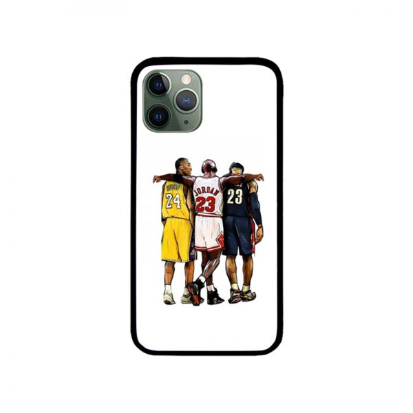 Kobe Bryant x Michael Jordan x Lebron James The Greatest of All Time iPhone Case 11 X 8 7 6