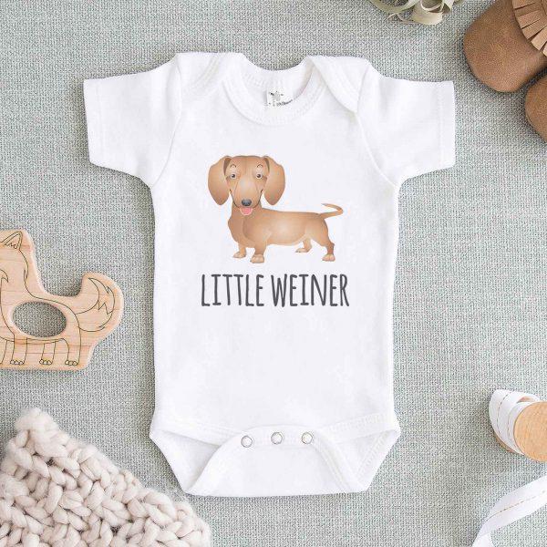 Little Weiner Dachshund Baby Onesie