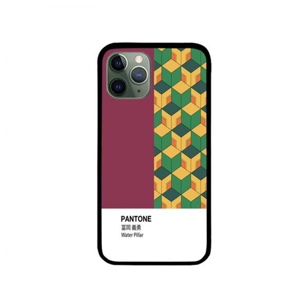 PANTONE Giyu Tomioka Demon Slayer iPhone Case 11 X 8 7 6