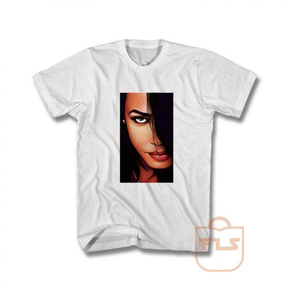 Aaliyah Face T Shirt
