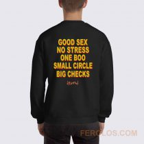 Good Sex No Stress One Boo Small Circle Big Checks YG Sweatshirt