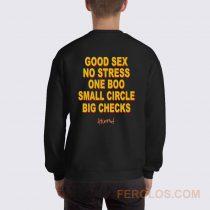 Good Sex No Stress One Boo Small Circle Big Checks YG Sweatshirt