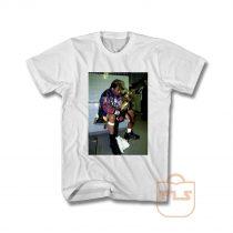 Kobe Bryant Sitting Down Holding Trophy NBA Vintage T Shirt