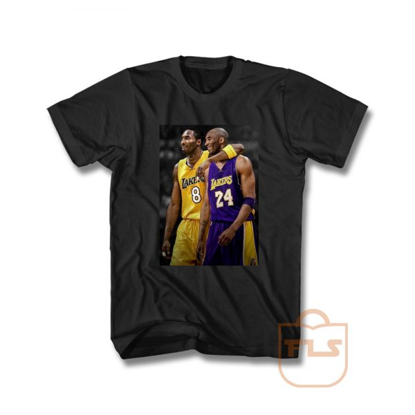 Kobe Bryant Young Old Number 24 8 Signature T Shirt