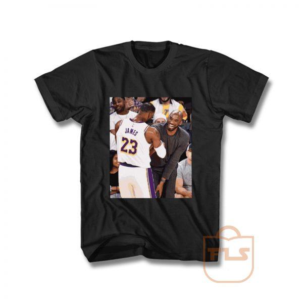 Kobe Bryant and Lebron James Courtside T Shirt