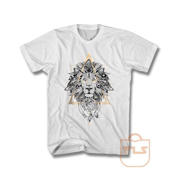 Lion Mandala Boho Style T Shirt
