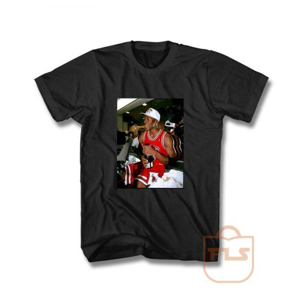 Michael Jordan After Championship 1990 Vintage T Shirt