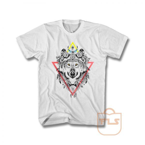 Wolf Mandala T Shirt