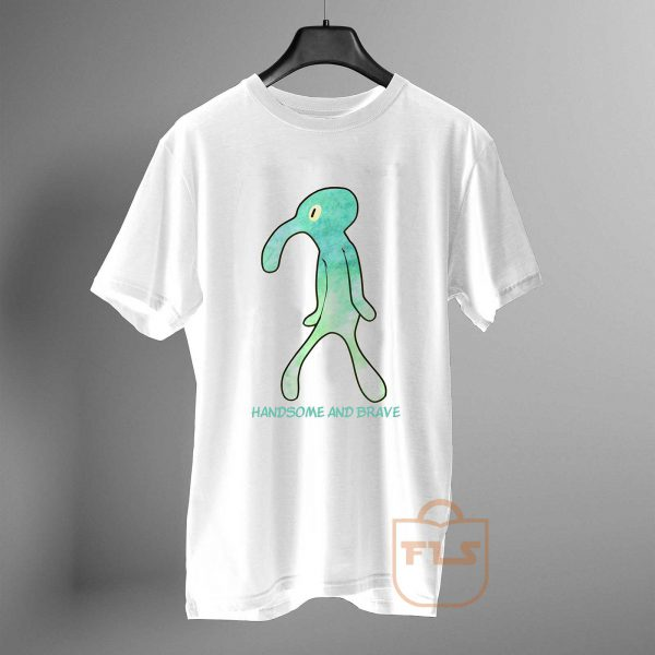 handsome and brave squidward painting T Shirt