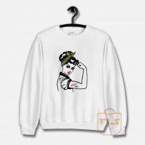 Army WIFE Rosie the Riveter Sweatshirt