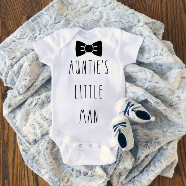 Aunties Little Man Baby Onesie