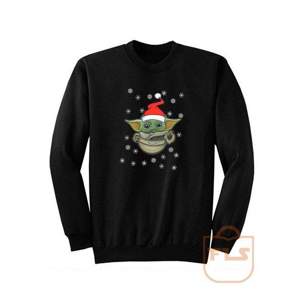 Baby Yoda Santa Funny Sweatshirt