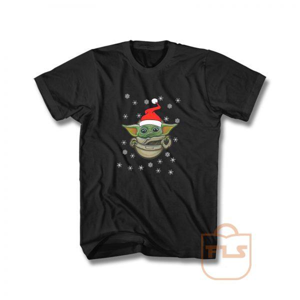 Baby Yoda Santa Funny T Shirt