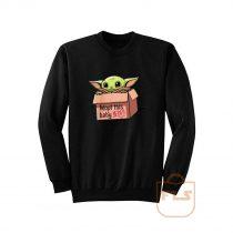 Baby Yoda The Mandalorian Adopt This Jedi Sweatshirt
