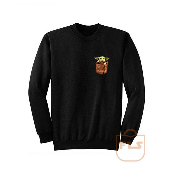 Baby Yoda The Mandalorian Pocket Sweatshirt