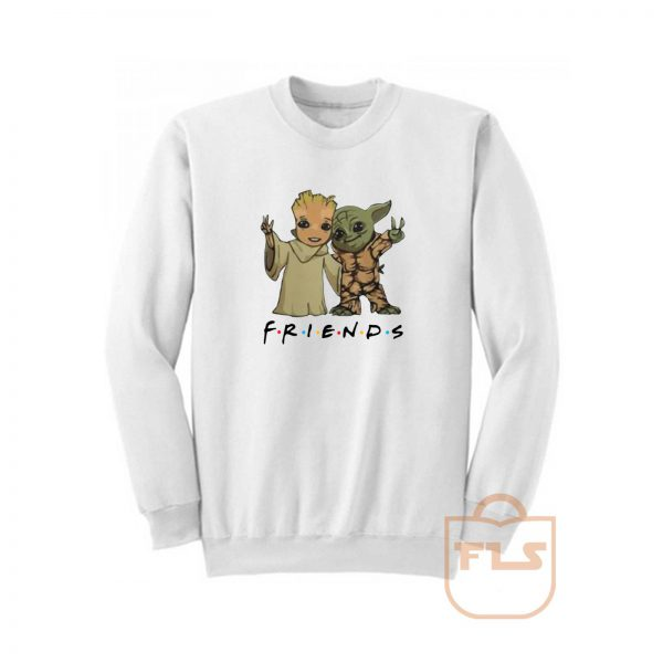 Baby Yoda and Baby Groot Friends Sweatshirt