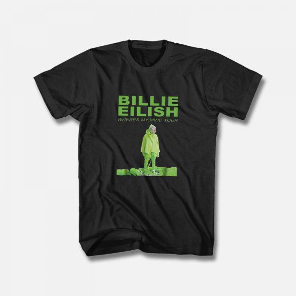 Billie Eilish Where Is My Mind Tourbillie T Shirt