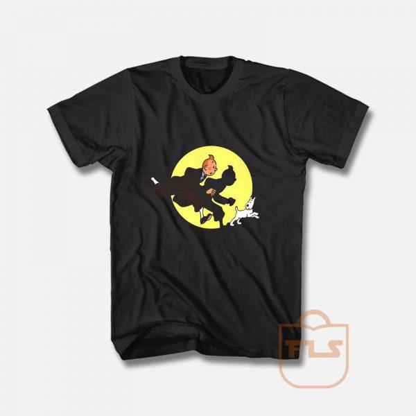 Cartoon Tin Tin T shirt