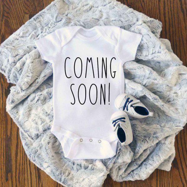 Coming Soon Baby Baby Onesie