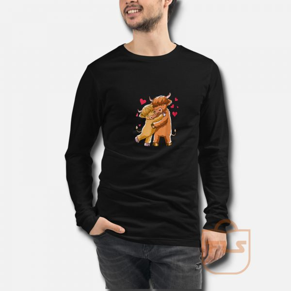 Cuddle Highland Cattle Scottish Cow Farmers Long Sleeve