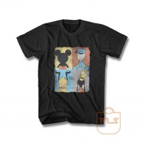 Donald Duck Mickey Mouse Pluto Goofy Tile T Shirt
