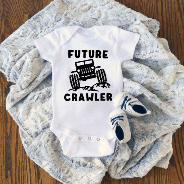 Future Crawler Jeep Baby Onesie