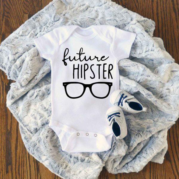 Future Hipster Baby Onesie