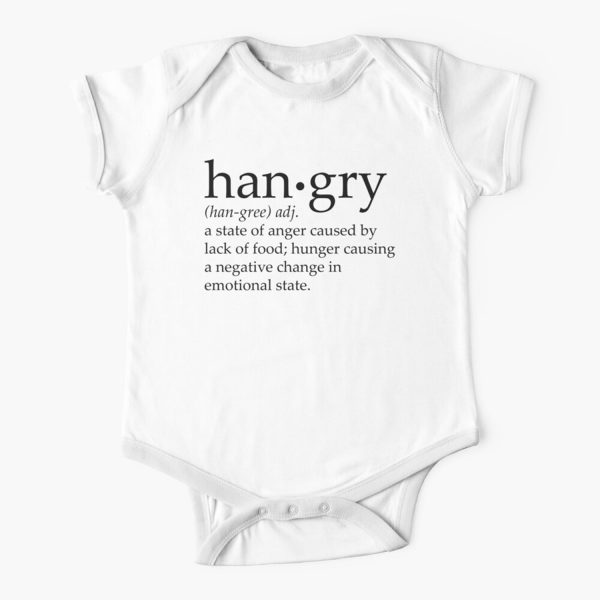 Hangry Definition Baby Onesie