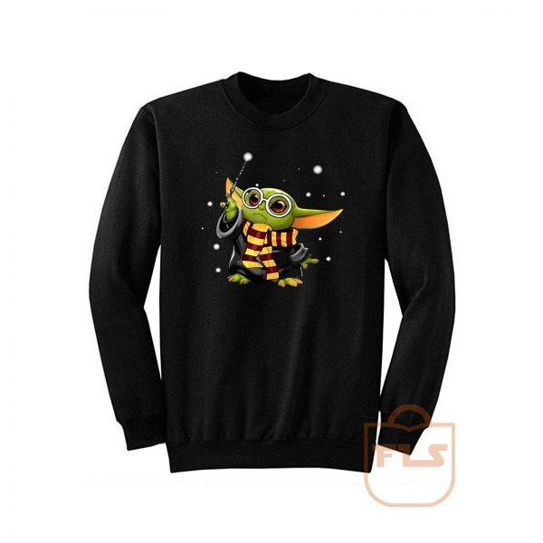 Harry Potter mashup Baby Yoda Star Wars Sweatshirt