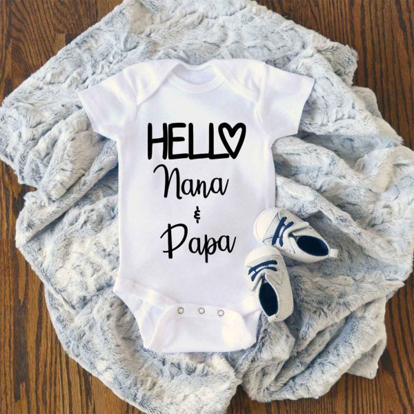 Hello My Parents Baby Onesie