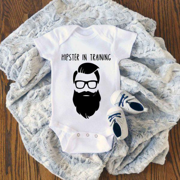 Hipster In Training Baby Onesie