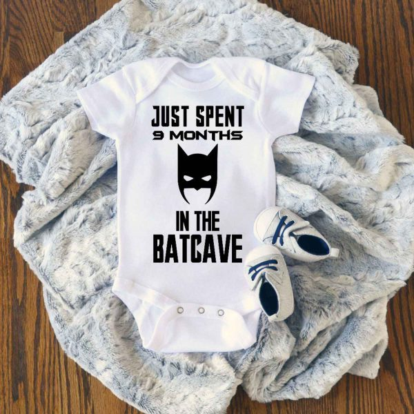 Just Spent 9 Months in the Batcave Baby Onesie
