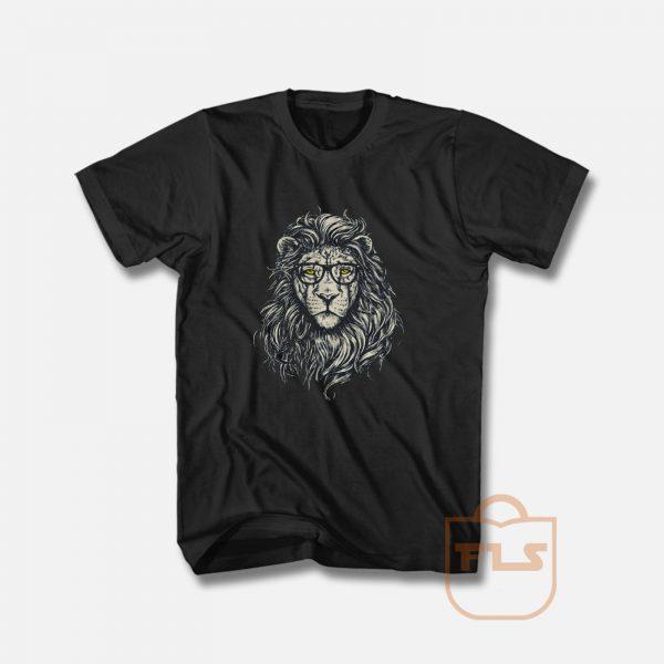 Lion Eye Glass T Shirt